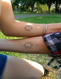 minimalist puzzle piece tattoos idea for couple tattoomagz