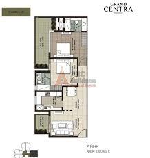 2 bhk ild grand centra floor plan archives floorplan in