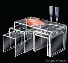 cb2 acrylic nesting tables acrylic nesting tables coffee tables table square coffee nest glass