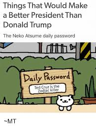 Meme Neko - things that would make a better president than donald trump the neko