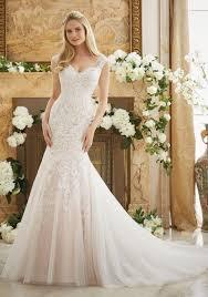 wedding dress lace vintage lace on soft net bridal dress style 2888 morilee