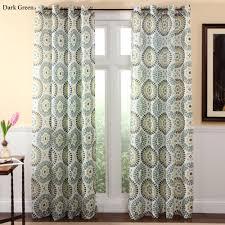 Grommet Drapes Furniture Medallion Grommet Curtain Panels For Modern Interior