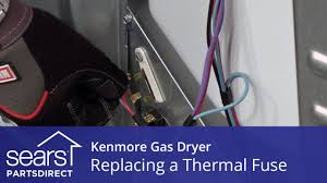 how to replace a kenmore gas dryer thermal fuse youtube