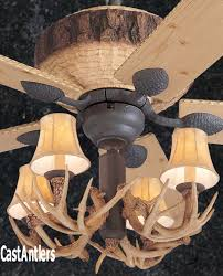 Lodge Ceiling Fans With Lights Standard Size Fans 52 Rustic Faux Antler Lodge Ceiling Fan