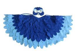 Halloween Costumes Parrots Children Bird Costume Blue Macaw Arara Parrot Wings Bhbkidstyle
