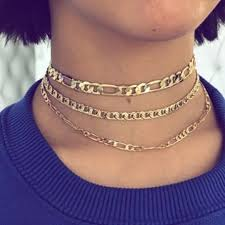 link choker necklace images Princess p jewelry jewelry new gold layered cuban link choker jpg