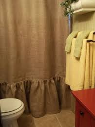 Burlap Shower Curtains Jute Shower Curtain 100 Images 10 Great And Clever Bathroom