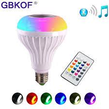 bluetooth music light bulb rgb led light bulb e27 12w wireless bluetooth speaker music playing