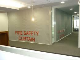 Automatic Fire Curtain Sd60gs 1hr Fire Protective Smoke Curtain With Egress