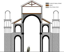 the king u0027s hall of minas tirith and the romanesque basilicas