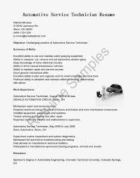 Auto Mechanic Resume Templates Resume Examples Templates Best Automotive Technician Automotive
