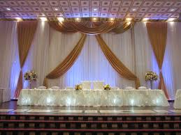 wedding backdrop gold gold wedding backdrop design done through weds by mega city