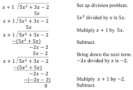 use long division to divide polynomials precalculus i