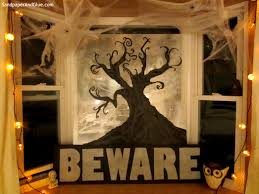 Diy Halloween Window Silhouettes by Diy Halloween Window Display How To Guide Stephanie Marchetti