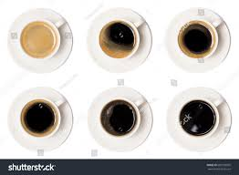 coffee cup assortment top view collection stock photo 600135095