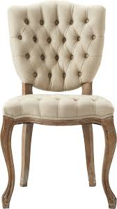 tufted linen a distressed oak frame dining chair