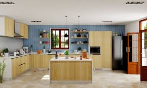 furniture movable kitchen island with racks and stools for buy chloe kitchen with island counter online in india livspace com chloe kitchen with island counter