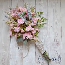 Shabby Chic Wedding Bouquets by Pink Wildflower Bouquet Rustic Bouquet Pink Wildflower Bouquet