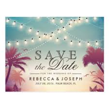 Wedding Save The Dates Custom Beach Wedding Save The Date Postcards Zazzle Co Uk