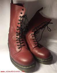 boots size 12 dr martens 14 eye oxblood rocker guitar boots mens size 12 46