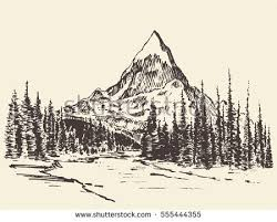 mountain drawing stock images royalty free images u0026 vectors