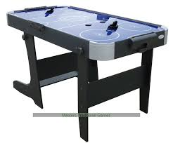 foldable air hockey table gamesson l foot folding blue air hockey table