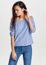 light blue off the shoulder top only ris stripped off the shoulder top blue mcelhinneys