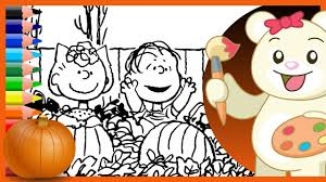 halloween charlie brown sally and linus holiday coloring pages