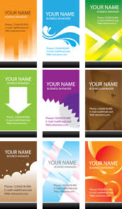 simple business card template vector vector download