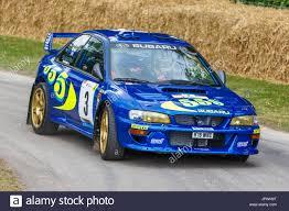 subaru wrc ex colin mcrae 1997 subaru impreza wrc rally car with driver steve