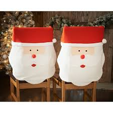 snowman chair covers santa chair covers 2pk christmas tableware b m