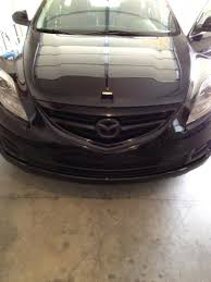mazda car emblem flat black vs glossy black emblems page 2 mazda 6 forums