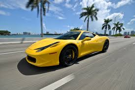 ferrari yellow car rent a ferrari 458 italia in miami fl