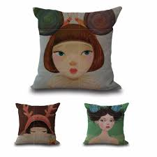 online get cheap girl decorative pillows aliexpress com alibaba square 18