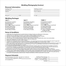photography contract templates sample photography contract