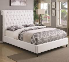 Tufted Sleigh Bed Bed Frames Queen Size Bed Size Queen Size Bed Mattress