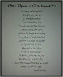 once upon a christmastime dona m maroney christmas poem