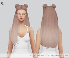 sims 4 hair cc sims 4 hairs kalewa a galaxy hair retextured