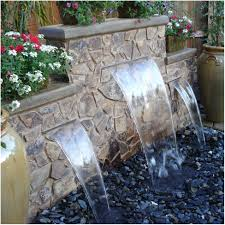 Backyard Feature Wall Ideas Backyards Wonderful Backyard Water Features Ideas Outside Water