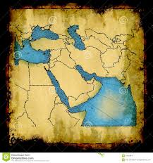 Mideast Map Middle East Old Map Royalty Free Stock Photography Image 18401847