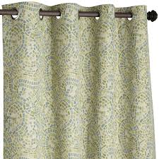 96 Inch Curtains Blackout by Ocean Mosaic Paisley Curtain 96