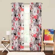 buy black white floral curtains from bed bath u0026 beyond