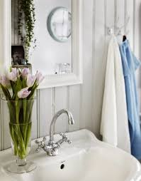 shabby chic bathroom decorating ideas shabby chic bathroom design with a hearth and a sideboard digsdigs