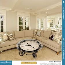 howard miller antique ravenna cocktail coffee table clock 615010