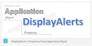 displayalerts application property vba explained with examples
