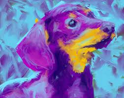 abstract dog art etsy
