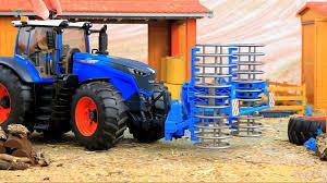 bruder toys fendt vario kids toy videos construction trucks