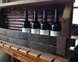 rustic wine racks from wine barrels and barn by barrelsandbarnwood