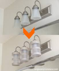 Diy Light Fixtures Diy Bathroom Lighting Fixture Makeover Hometalk