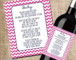 asking bridesmaids poems will you be my bridesmaid wine label custom wine label wine